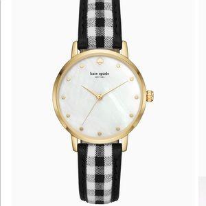 Kate Spade Metro Gigham Watch - Brand New